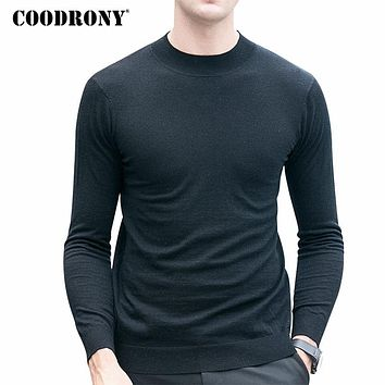Merino Wool Sweater Men Warm Knitted Cashmere Sweaters Casual Turtleneck Pullover Men Pull Home