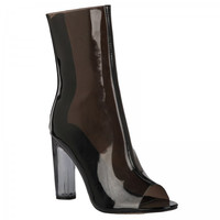 Prim n Proper Black Clear Ankle Boots