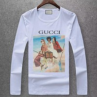 GUCCI Women Men Fashion Casual Scoop Neck Long Sleeve Top Sweater Pullover