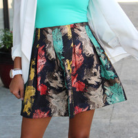 Painted Perfect Jacquard Skirt {Multi}