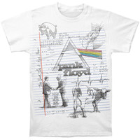 Pink Floyd Men's  Floyd Sketch T-shirt White