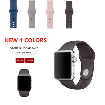 Sport Band For Apple Watch Soft Rubber Wrist band Strap Bracelet 42MM 38MM For Apple Watch Series1 Series2