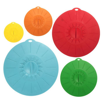 Silicone Lids Suction Food Saver Covers Silicone Cover Lids Fresh Suction Lids For Pans Bowls Cups Containers