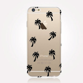 Transparent Palm Trees iPhone Case- Transparent Case - Clear Case - Transparent iPhone 6 - Transparent iPhone 5 - Transparent iPhone 4