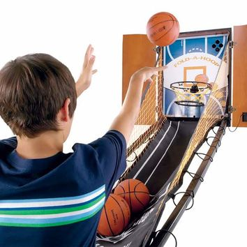 Hide-A-Hoop Indoor Arcade Basketball @ Sharper Image