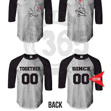 Beauty and the Beast (Straight Fit Raglan) Set of 2  for 45.99
