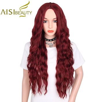 "AISI BEAUTY 30"" Synthetic Long Wavy Wig"