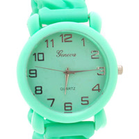 silicone-chain-watch HOTPINK LTPEACH MINT NEONYELLOW WHITE - GoJane.com