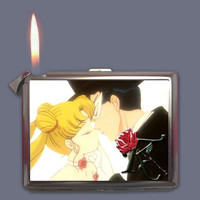 Sailor Moon & Tuxedo Mask Cigarette Case Lighter or Wallet Business Card Holder