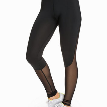 Fasionable Half Mesh Tights, FASHIONABLEFIT FOR NLY SPORT