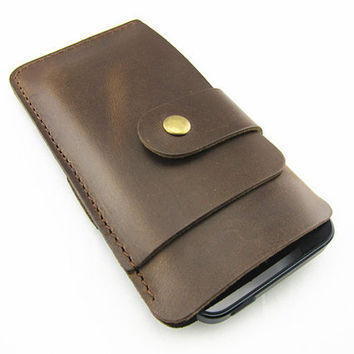 Handmade leather pouch cover  case for iPhone 4 ipod touch ,iphone 4s sleeve iPhone 4s leather sleeve ,iPhone 4 wallet with card holder