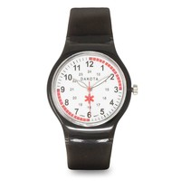 Nurses Medical Scrub Watch Easy Clean Black Band Pulse Dakota 27387