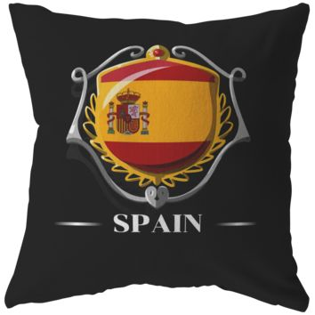 Spanish Pillows, Pride Patriotic España Vintage Flag Pillow
