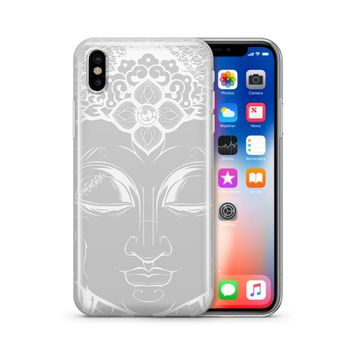Henna Close Up Buddha - Clear TPU Case Cover Phone Case
