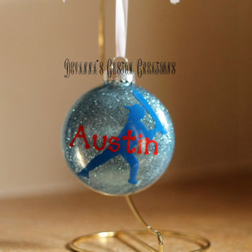 Personalized Baseball Ornament with Name (can add the year)