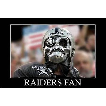 RAIDERS FAN POSTER Funny Football RARE HOT NEW 24x36