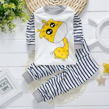 Newborn Baby Boy Clothes Set DUCK DOG Babies Pajamas Pullover Pants Cotton Baby Girls Clothing Set 2 PCS Ropa Babies Suit 0-24M
