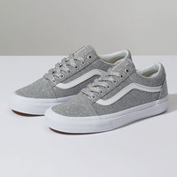 VANS Old Skool Lurex Silver & True White Womens Shoes