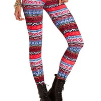 Colorful Tribal Cotton Legging: Charlotte Russe
