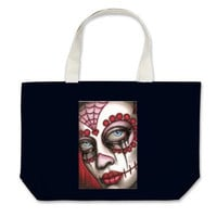 Day of the Dead Sugar Skull Grocery Tote by ShayneoftheDead