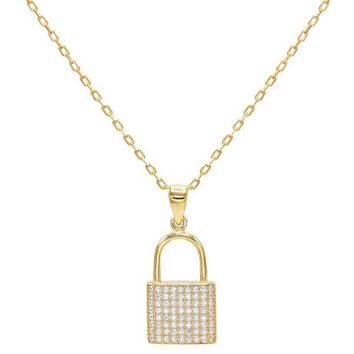 CZ Lock Necklace