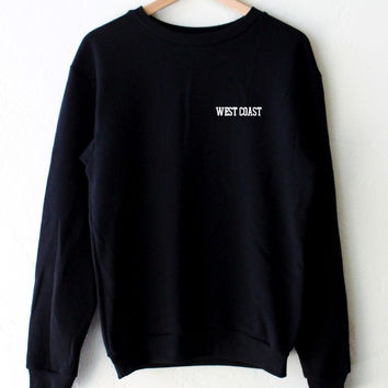 West Coast Oversized Sweater - Black
