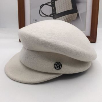 Newsboy Caps New winter m about the wool cap bonnet cap contracted joker leisure painter dome of literature and art