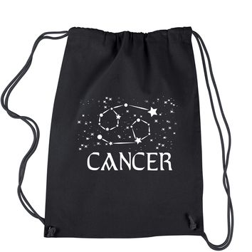 Cancer Zodiac Star Chart  Drawstring Backpack