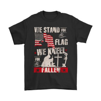 QIYIF We Stand For The Flag We Kneel For The Fallen Veteran Shirts