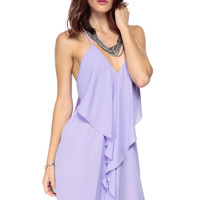 Lush Lavendar Draped Dress