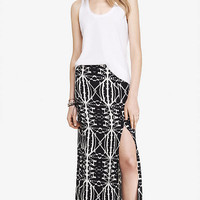 AZTEC WOVEN MAXI SKIRT from EXPRESS
