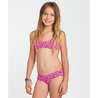 Billabong Girls' Unda Da Sea Racerback Bikini Set Pink Crush