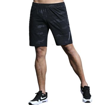 LANBAOSI Men Sports Running Shorts Pants Quick Dry Breathable Running Workout Bodybuilding Pocket Gym Training Fitness Shorts Y5