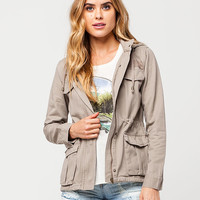 FULL TILT Hooded Twill Womens Anorak | Jackets