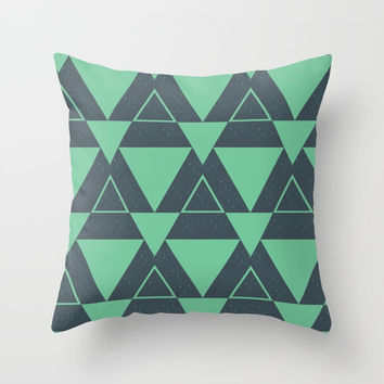 Triangle pattern Throw Pillow by Berwies