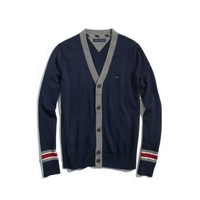 Tommy Hilfiger Men's SOLID CARDIGAN WITH CONTRAST TRIM