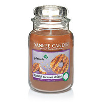 Girl Scout Cookies® Coconut Caramel Stripes : Large Jar Candles : Yankee Candle