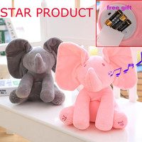 Stuffed Elephant Music Player - Anti-Stress Toy For Baby