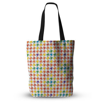 "Empire Ruhl ""Rainbow Houndstooth"" Everything Tote Bag"