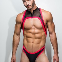 Thong Singlet - Neon Red