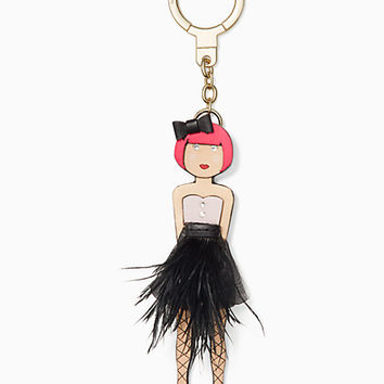 leather ballerina keychain