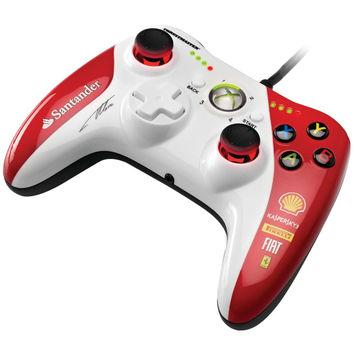 Xbox 360(R)/PC GPX LightBack Ferrari(R) F1 Edition Gamepad, 2 high-frequency vibration motors built into the handles, 8 built-in LEDs for speed gauging, 4460098