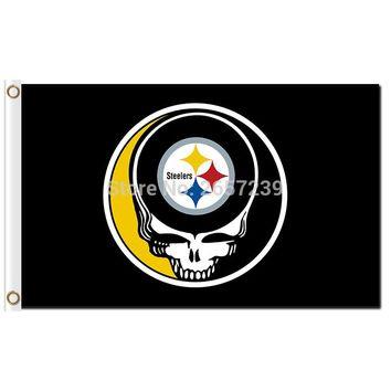 Pittsburgh Steelers Stealing Your Face Flag 3x5FT NFL banner 100D 150X90CM Polyester brass grommets custom66,free shipping