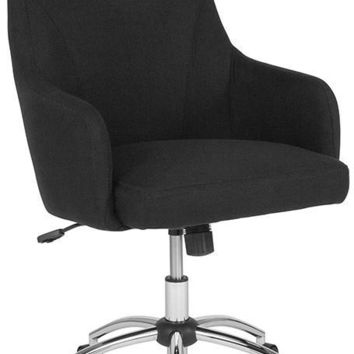Rennes Home and Office Upholstered High Back Chair in Black Fabric [BT-90509H-BLK-F-GG]