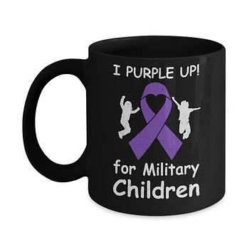 I Purple Up For Month Of The Military Child Mug