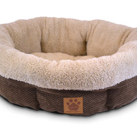 Precision Pet Natural Surroundings Shearling Round Dog Donut Dog Bed