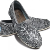 TOMS+ Pewter Sequins Women's Classics