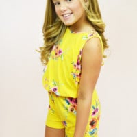 Floral Romper - Yellow