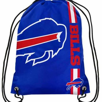 Buffalo Bills High Quality Polyester Fabric Men Drawstring Backpack Bags Digital Printing Pouch 35*45CM Sports Fan Flag