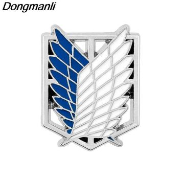 Cool Attack on Titan P2354 Dongmanli  20pcs/lot Anime Jewelry  Pins Brooch Legions Badge Lapel Pin Brooches AT_90_11